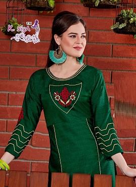 K Siya Shivani Casual Wear Two Tone Rayon Designer Kurtis Collection