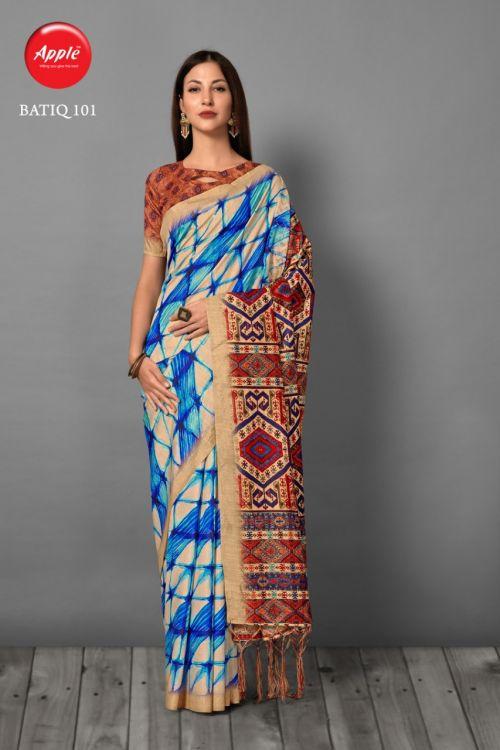 Apple Batiq Casual Wear Printed Bhagalpuri Silk Sarees Collection