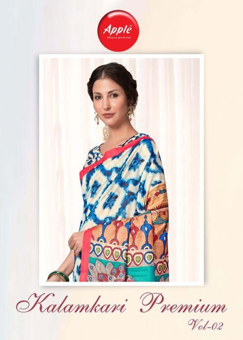 Apple Kalamkari Premium 2 Casual Wear Printed Saree Collection