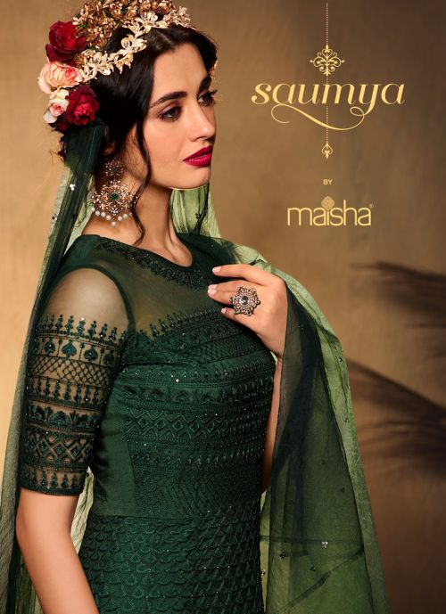 Maisha Saumya 10001 Series Wedding Wear Heavy Salwar Suits Collection
