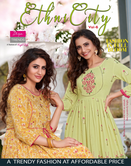 Ethnicity 6 Fancy Festive Wear Designer Exclusive Kurti Collection