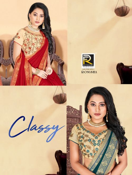 Ronisha Classy Festive Wear Designer Saree Collection