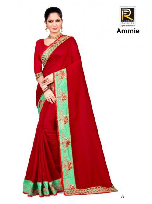 Ronisha Ammie Festive Wear Gota Work Designer Saree Collection