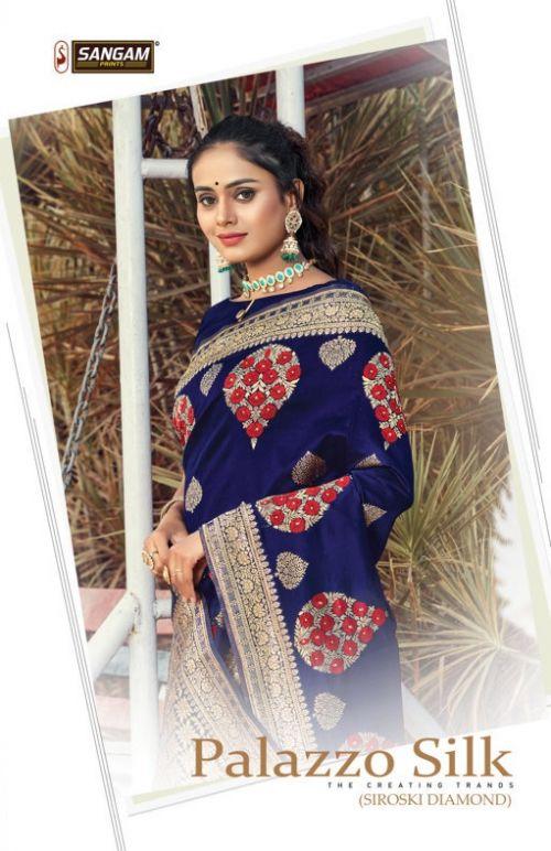 Sangam Plazzo Silk Festive Wear Silk Sarees Collection