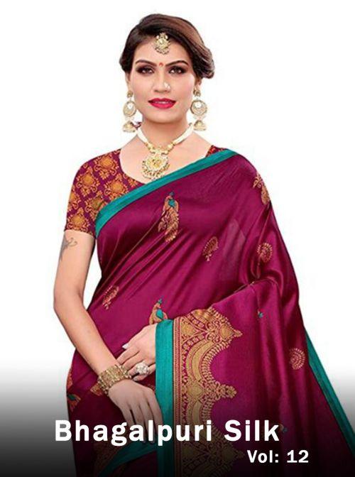 Lakshya Bhagalpuri 12 Latest Fancy Designer Casual Wear Bhagalpuri Silk Saree Collection