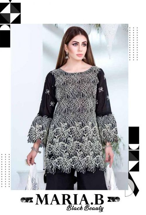 Deepsy Maria B Black Beauty Pakstani Salwar Suits Collection