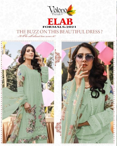 Volono Elab Formals 2021 Colors Luxury Cambric Pakistani Collection