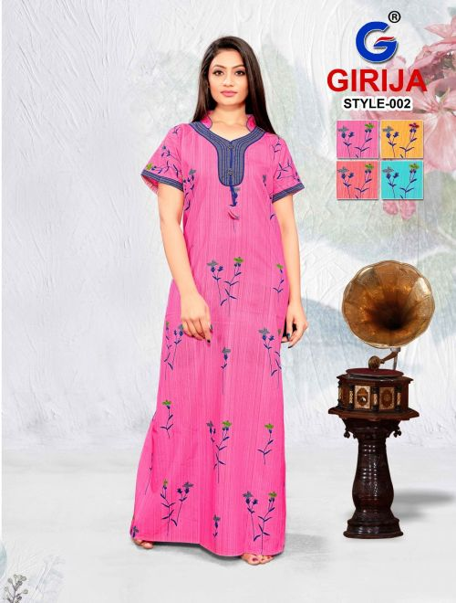 Girjia 3 Nighty Printed Western Nightsuits Collection