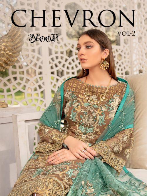 Noor Chevron 2 Georgette Pakistani Salwar Suits Collection