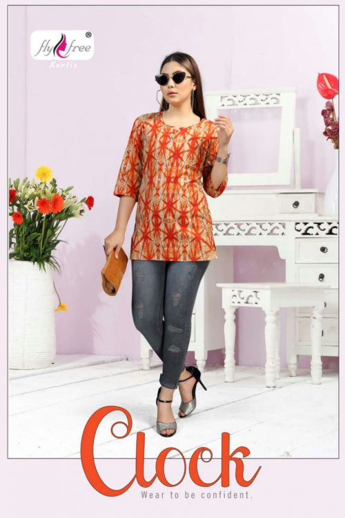 Fly Free Clock 1 Cambric Cotton Casual Wear Top Collection