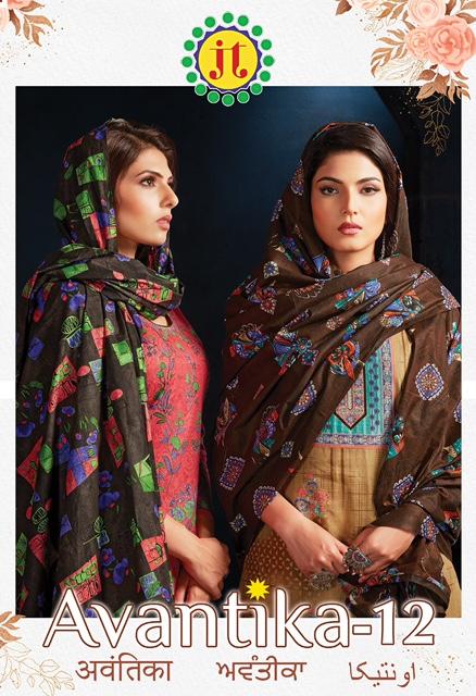 Jt Avantika 12 Printed Cotton Dress Material Collection