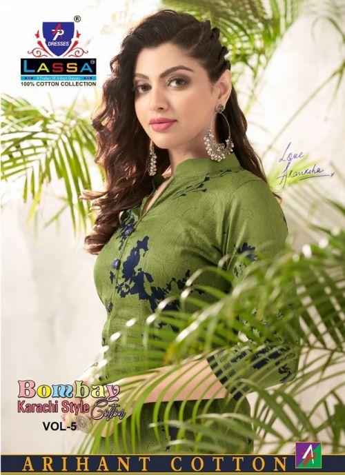 Lassa Bombay Cotton 5 Karachi Special Cotton Printed Dress Material