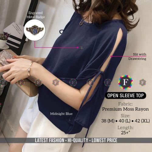 Open Sleeve Top Premium Western Top Collection