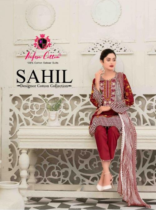 Nafisa Sahil 6 Cotton Karachi Dress Materials Collection
