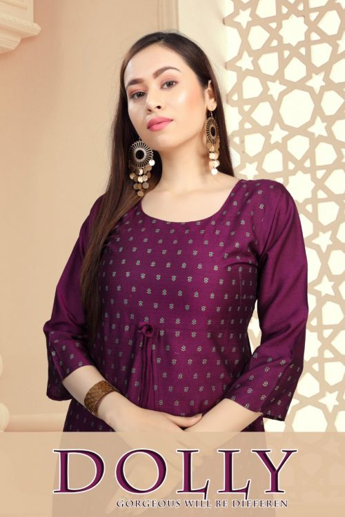Fashion Talk Dolly Fancy Wear Printed Anarkali Kurtis Collection