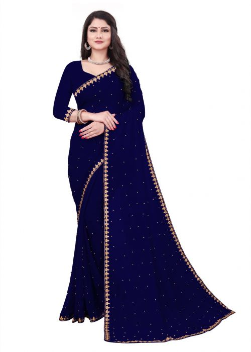 Meera 11 Casual Wear Georgette Moti Worked Saree Collection