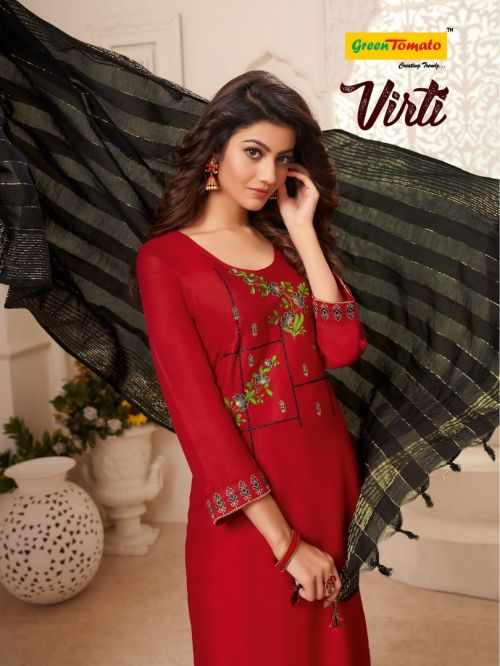 Master Virti Designer Kurti With Skirt And Fancy Dupatta Collection