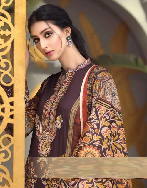 Agha Noor 4 Printed Karachi Dress Material Collection