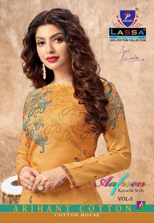 Arihant Lass Afreen 5 Karachi style Cotton Dress Material Collection