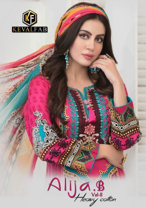 Keval Alija B 11 Heavy Cotton Digital Printed karachi Dress material