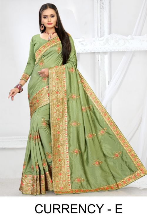 Ronisha Currency Party Wear Silk Sarees Collection