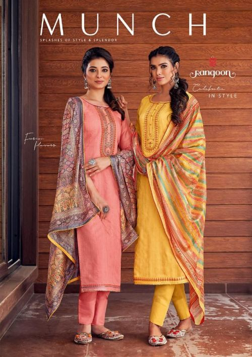 Rangoon Munch Ethnic Wear Printed Ready Made Dress Collection