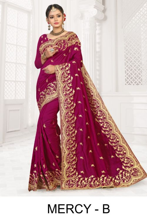Ronisha Mercy Festive Wear Designer Saree Collection
