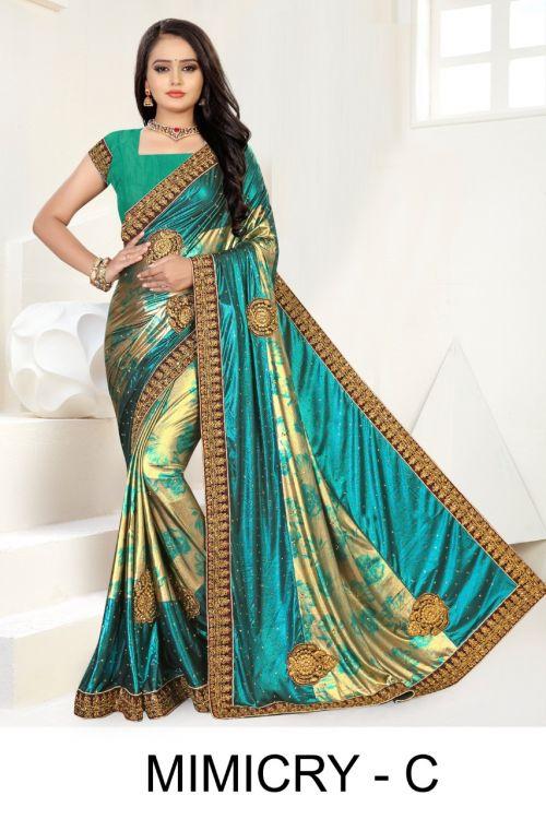 Ronisha Mimicry Festive Wear Designer Sarees Collection