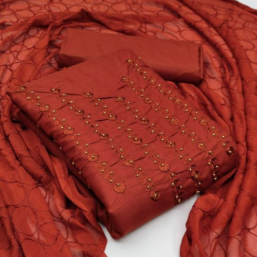 Sc 5050 Slub Cotton Dress Material Collection