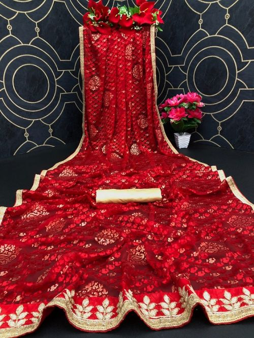 Maahi 32 Party Wear Designer Brasso Silk Saree Collection