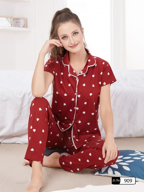 Colour 9 Quality Premium Collar Nightsuits Collection