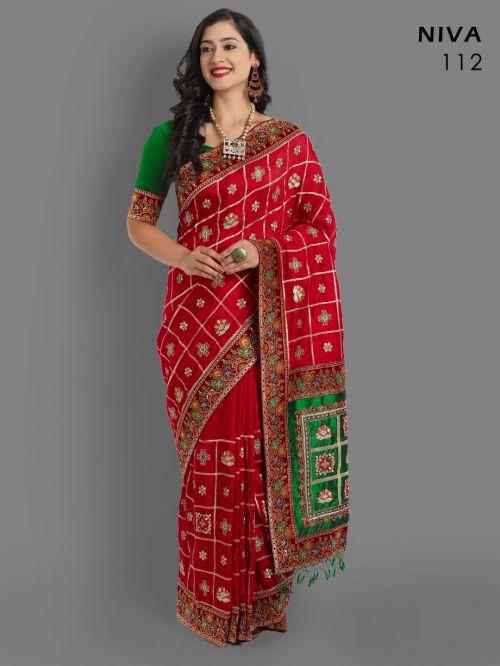 Sakhiya Niva Panetar Wedding Wear Saree Collection