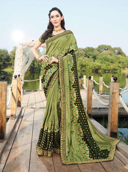 Kalista Ashiyana Fancy Wear Viscose Silk Saree Collection