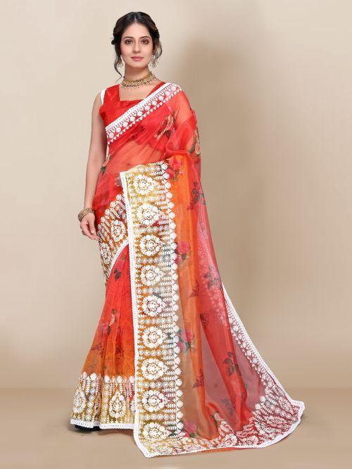 Vivera Slyvie Fancy Wear Organza Net Saree Collection