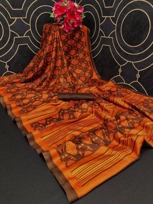 Monalisha 2 Casual Wear Printed Khadi Silk Saree Collection