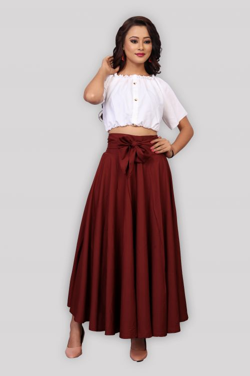 Western Skirt 1 Party Wear Stylish Top With Bottom