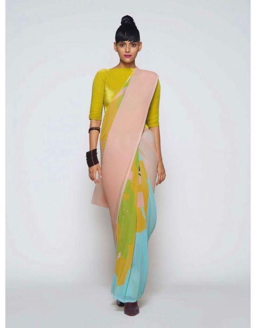 Bt 68 Party Wear Designer Georgette Wear Saree Collection