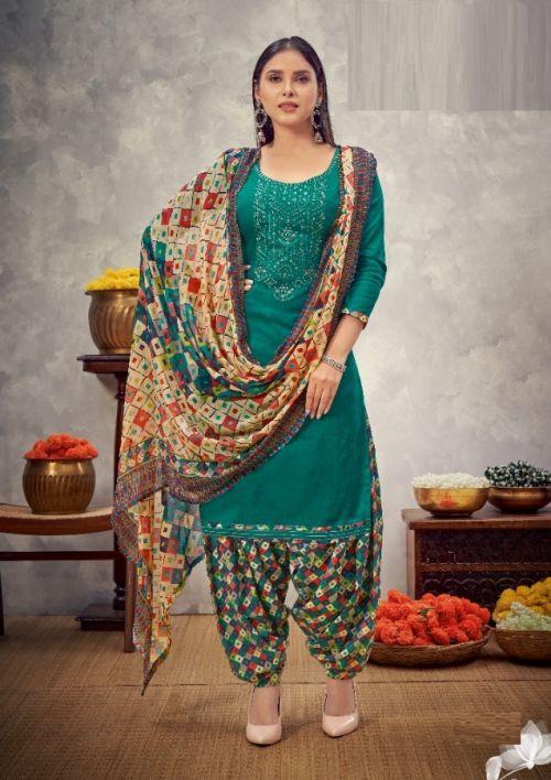 Alok Nusrat E Patiyala 8 Jam Cotton Designer Dress Material