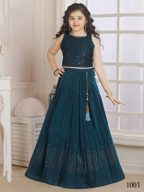 Shaily Party Wear Georgette Kids Lehenga Collection