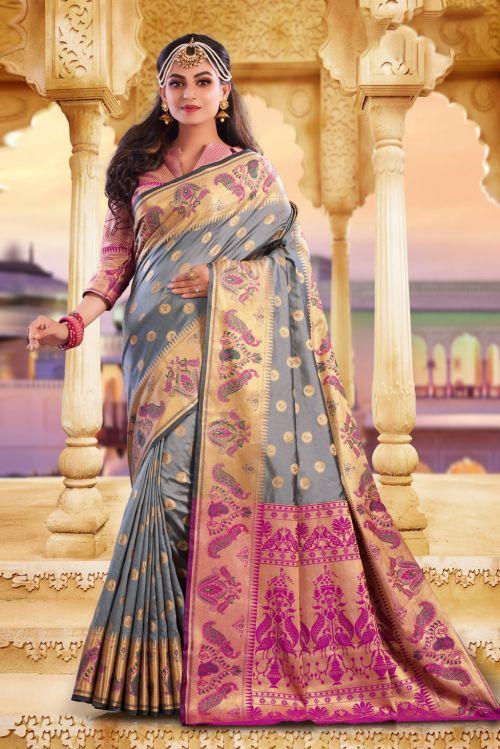 Sangam Shaktiupa Festive Wear Banarasi Silk Saree Collection