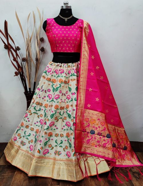 Simran Lehenga 12 Party Wear Designer Banarasi Silk Lehenga