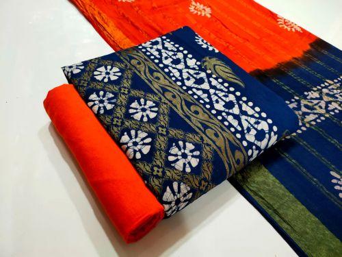 Batik Weaving Zequard Regular Wear Cotton Dress Material