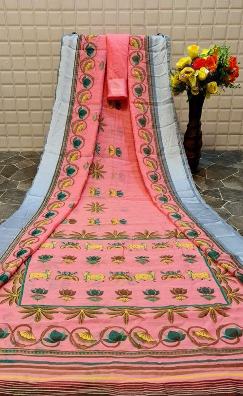Monalisha 3 Casual Wear Printed Linen Saree Collection
