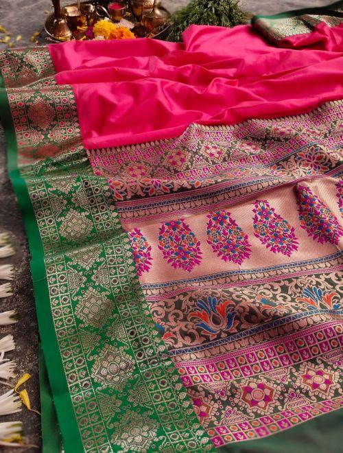 Meera 45 Party Wear Heavy Banarasi Silk Saree Collection