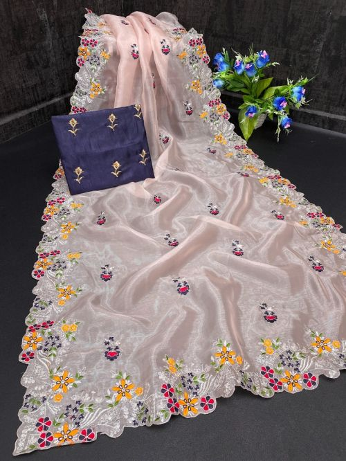 Maahi 45 Party Wear Organza Silk Saree Collection