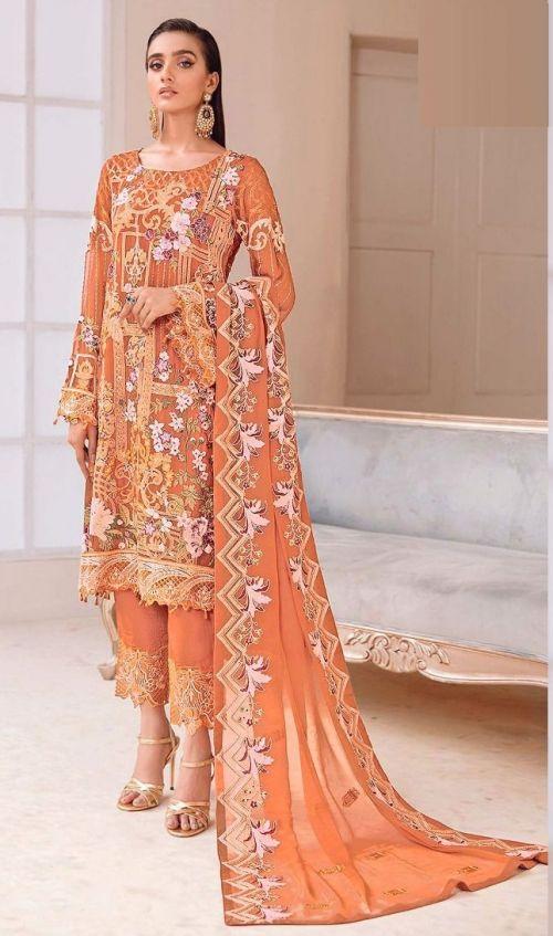 Rinaz Ramsha 11 Georgette Wear Pakistani Salwar Kameez