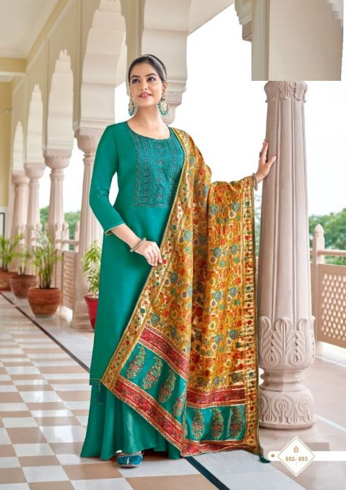 Alok Mehndi Fancy Wear Jam Cotton Designer Dress Material