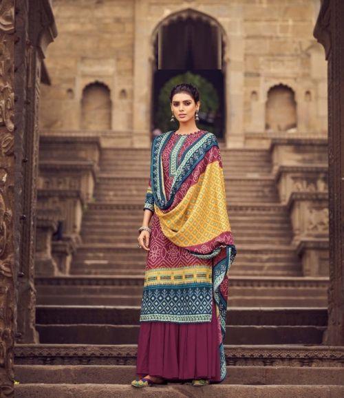 Zulfat Winter Celebration Digital Printed Designer Pashmina Dress Material