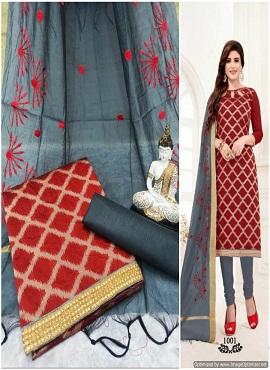 Rnx Bindiya 1001 Banarasi Cotton Dress Material
