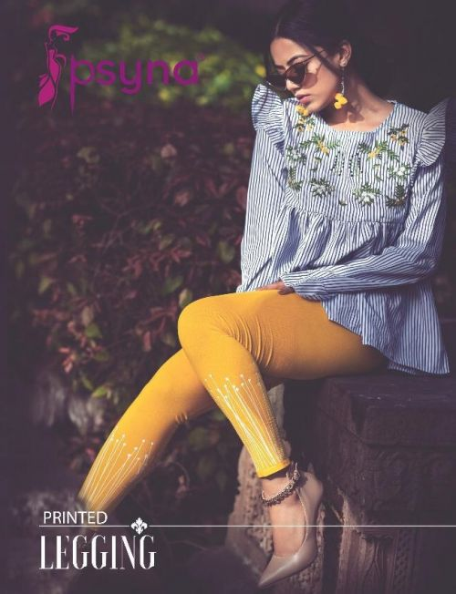 Psyna Printed Leggings Cotton Lycra Ankle Length Leggings
